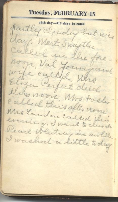 Roberta Hopkins' Diary 1927 (p. 52)