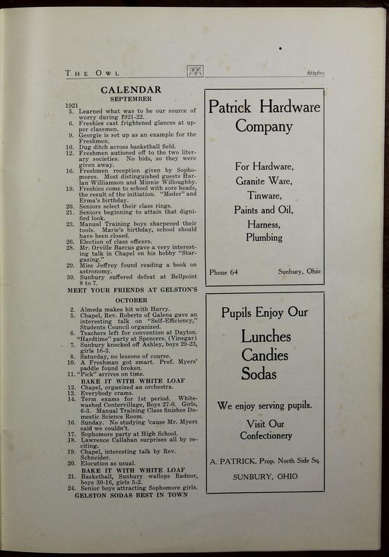 The Owl, Vol. II, 1922 (p.57)