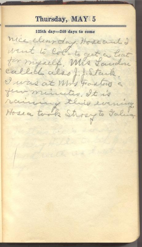 Roberta Hopkins' Diary 1927 (p. 131)