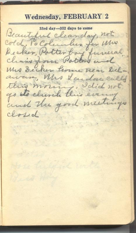 Roberta Hopkins' Diary 1927 (p. 39)