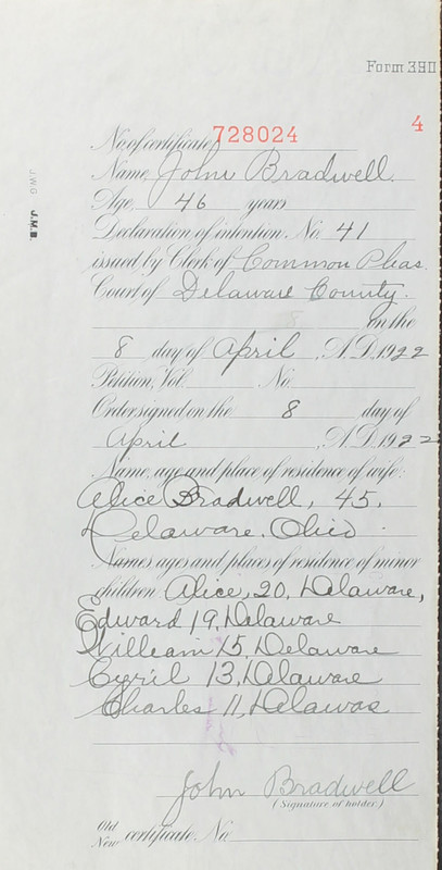 Naturalization Records Delaware County OH (p. 226)