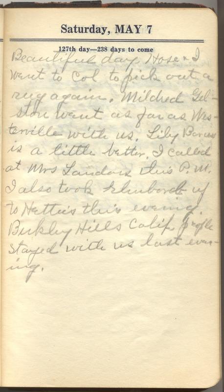 Roberta Hopkins' Diary 1927 (p. 133)