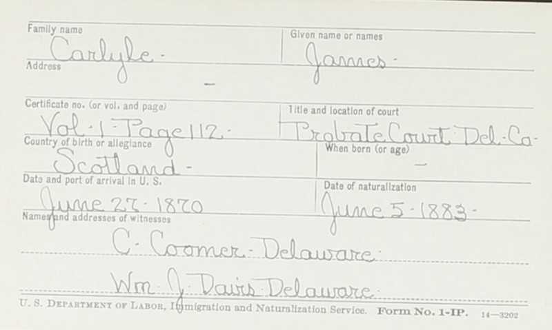 Naturalization Records Delaware County OH (p. 325)