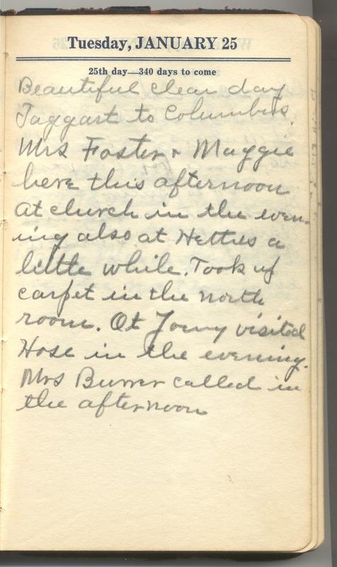 Roberta Hopkins' Diary 1927 (p. 31)