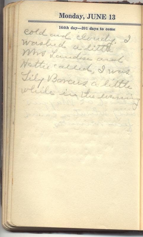 Roberta Hopkins' Diary 1927 (p. 170)