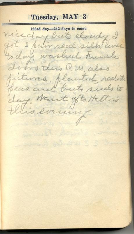 Roberta Hopkins' Diary 1927 (p. 129)