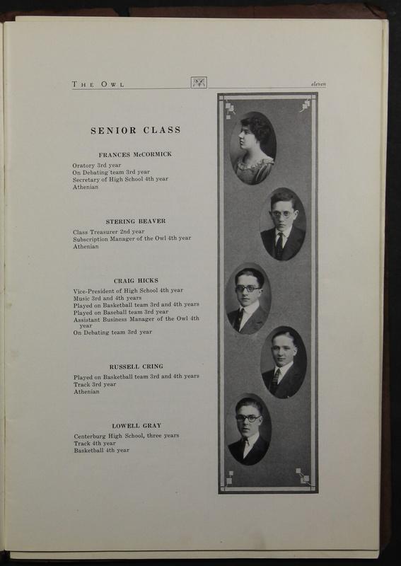 The Owl, Vol. II, 1922 (p.13)