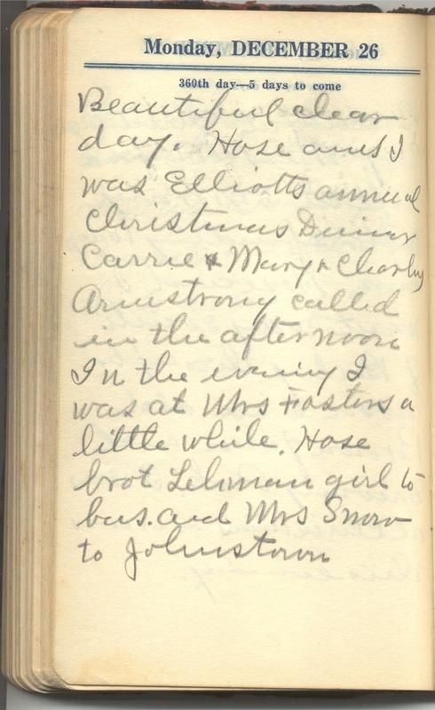 Roberta Hopkins' Diary 1927 (p. 366)