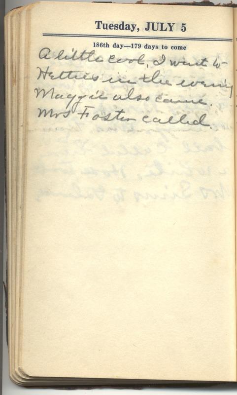 Roberta Hopkins' Diary 1927 (p. 192)