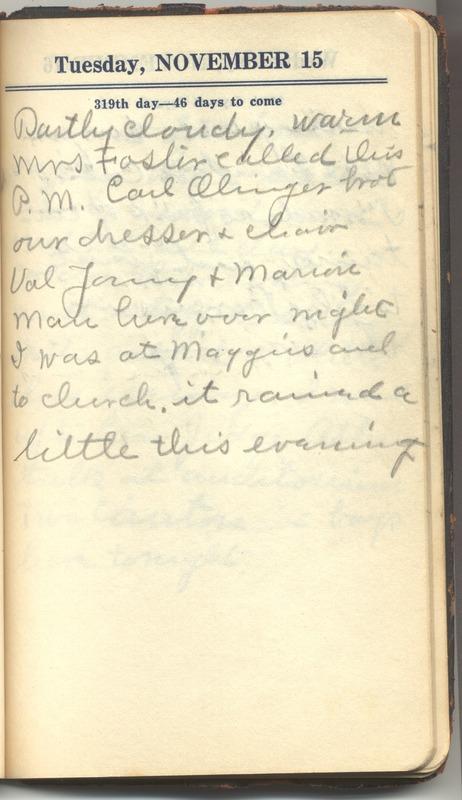Roberta Hopkins' Diary 1927 (p. 325)