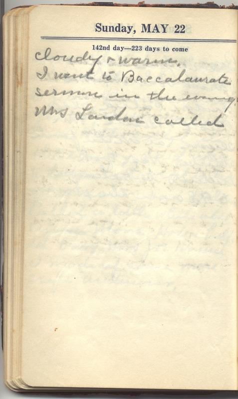 Roberta Hopkins' Diary 1927 (p. 148)