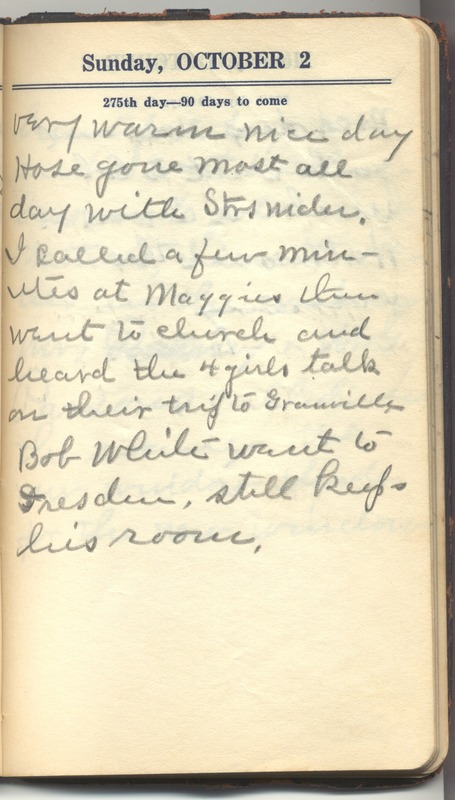 Roberta Hopkins' Diary 1927 (p. 281)
