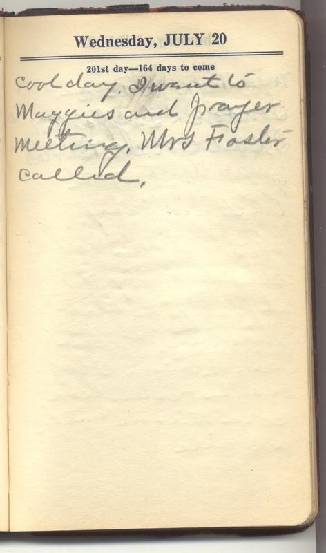 Roberta Hopkins' Diary 1927 (p. 207)
