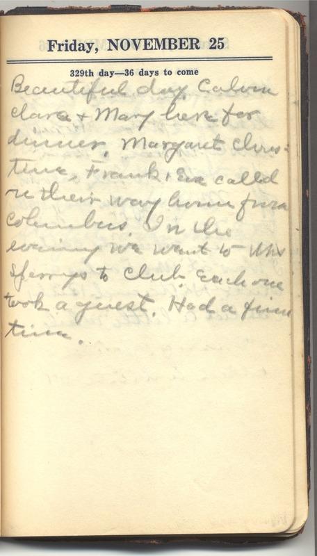 Roberta Hopkins' Diary 1927 (p. 335)