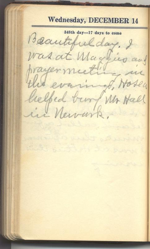 Roberta Hopkins' Diary 1927 (p. 354)