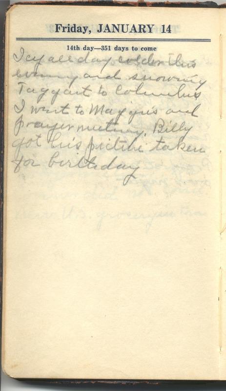 Roberta Hopkins' Diary 1927 (p. 20)