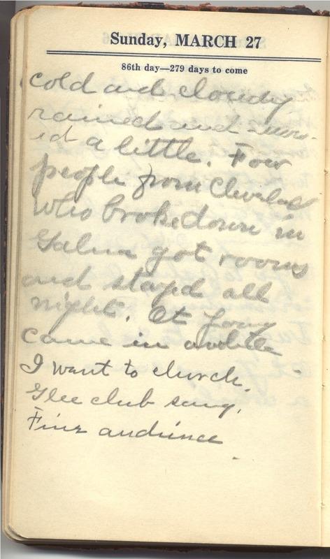 Roberta Hopkins' Diary 1927 (p. 92)
