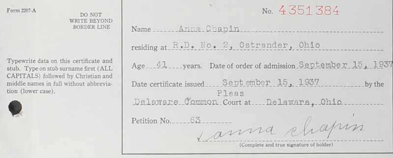 Naturalization Records Delaware County OH (p. 347)