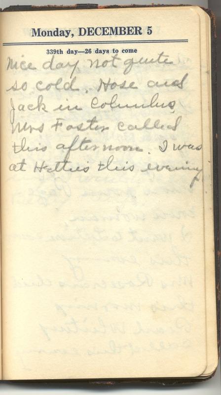Roberta Hopkins' Diary 1927 (p. 345)