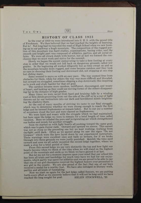 The Owl, Vol. II, 1922 (p.17)