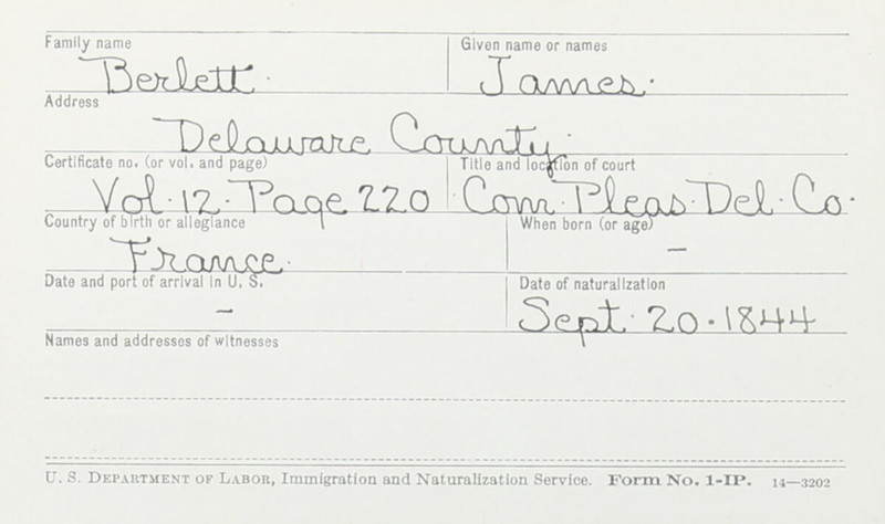 Naturalization Records Delaware County OH (p. 166)