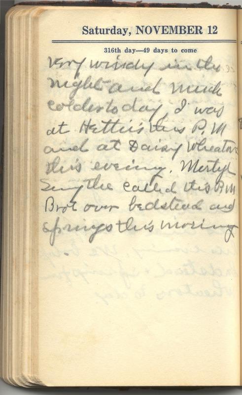 Roberta Hopkins' Diary 1927 (p. 322)