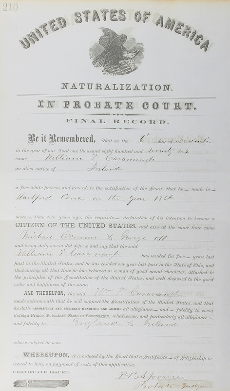 Naturalization Records Delaware County OH (p. 342)