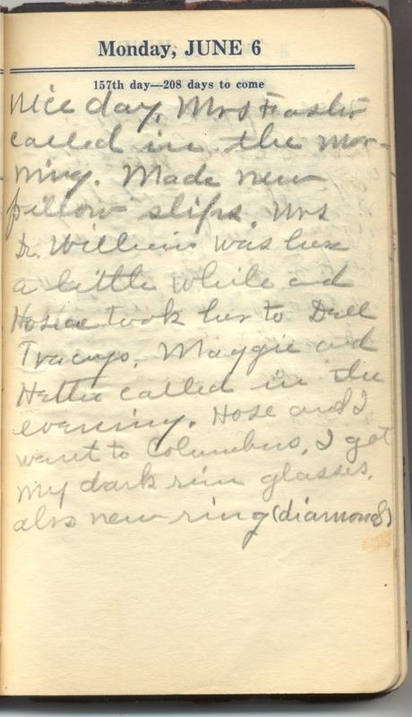 Roberta Hopkins' Diary 1927 (p. 163)