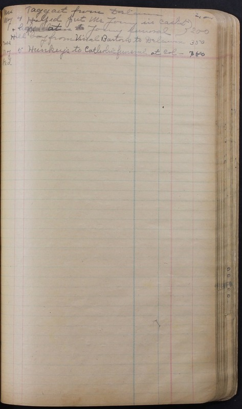 Hopkins House Day Book 1920-1925 (p.147)