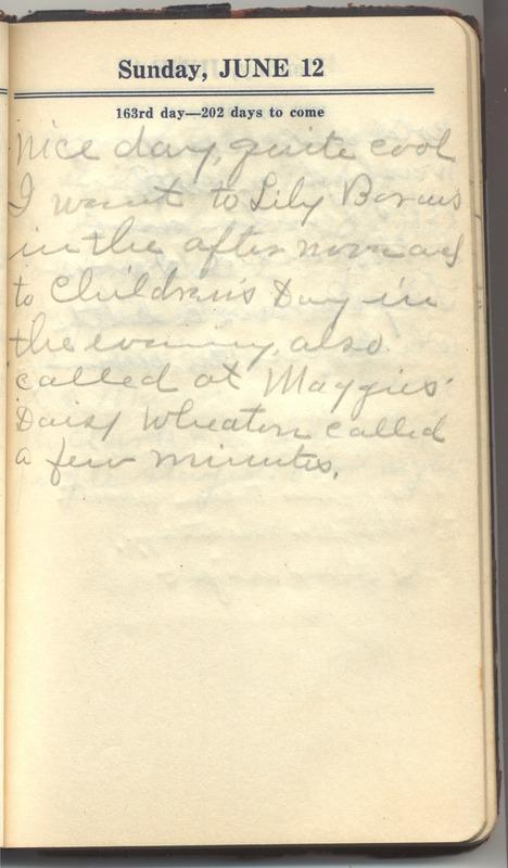 Roberta Hopkins' Diary 1927 (p. 169)
