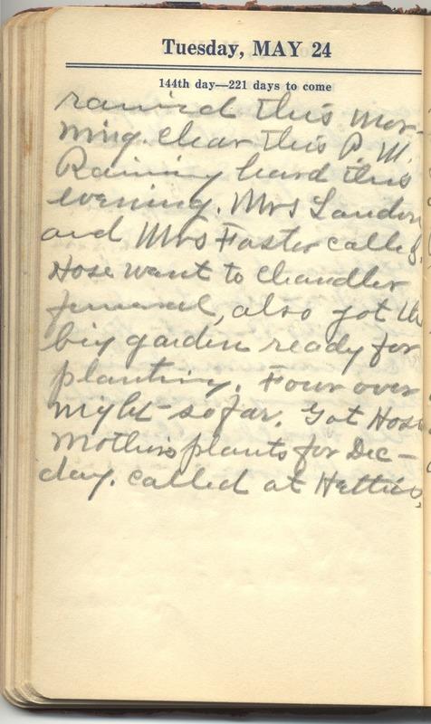 Roberta Hopkins' Diary 1927 (p. 150)