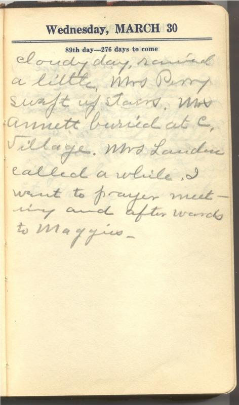 Roberta Hopkins' Diary 1927 (p. 95)