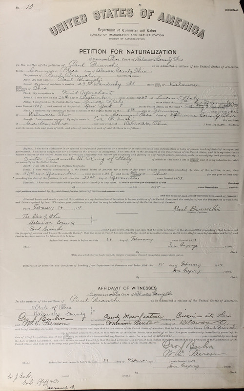 Naturalization Records Delaware County OH (p. 186)