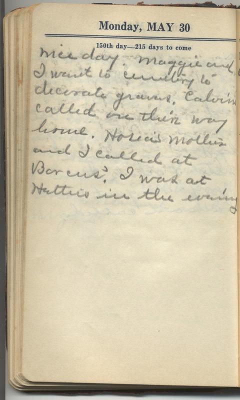 Roberta Hopkins' Diary 1927 (p. 156)