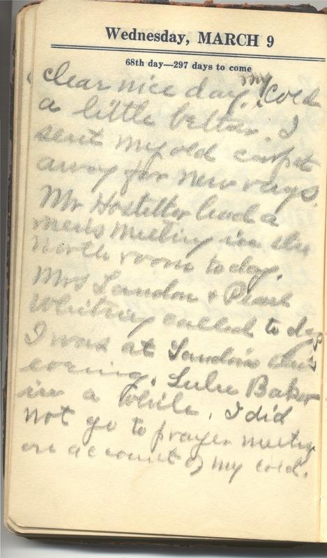 Roberta Hopkins' Diary 1927 (p. 74)