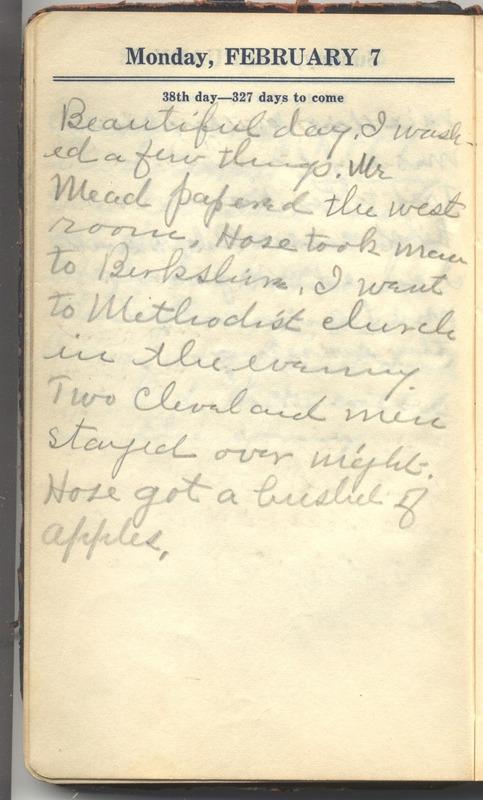 Roberta Hopkins' Diary 1927 (p. 44)