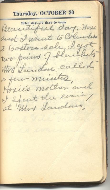 Roberta Hopkins' Diary 1927 (p. 299)