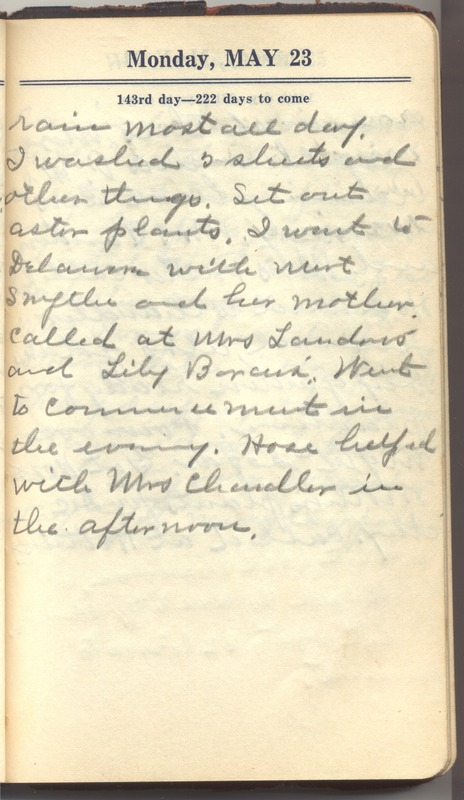 Roberta Hopkins' Diary 1927 (p. 149)