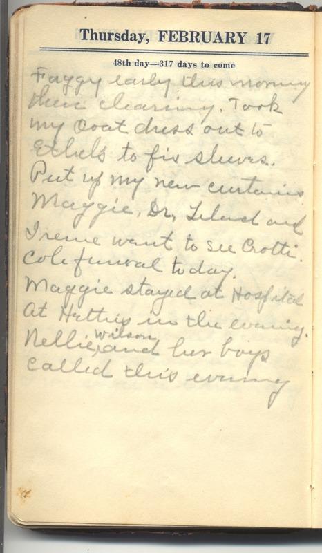 Roberta Hopkins' Diary 1927 (p. 54)