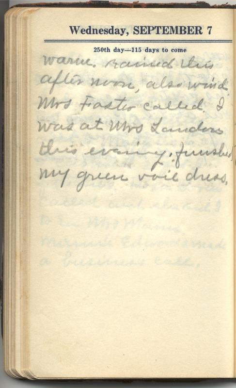 Roberta Hopkins' Diary 1927 (p. 256)