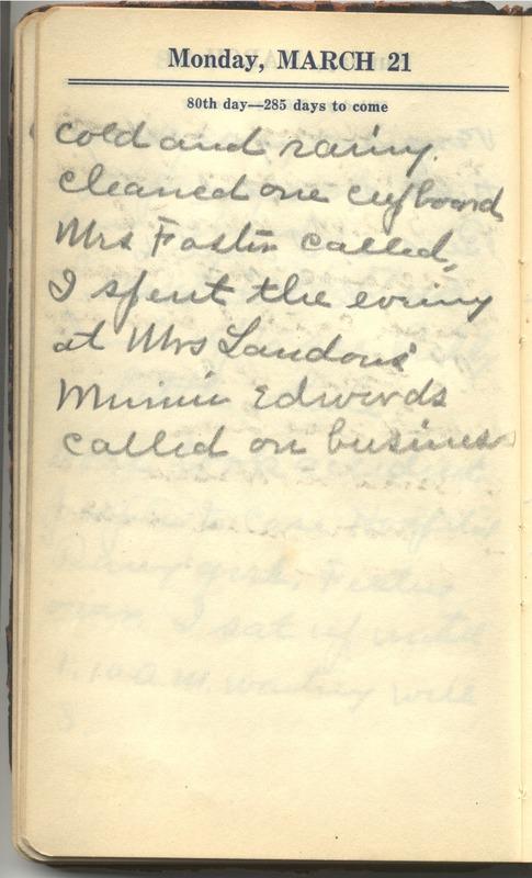 Roberta Hopkins' Diary 1927 (p. 86)