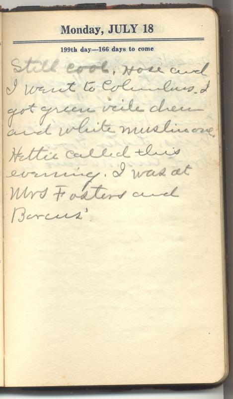 Roberta Hopkins' Diary 1927 (p. 205)