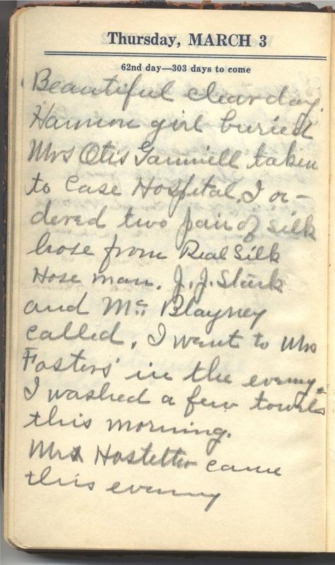 Roberta Hopkins' Diary 1927 (p. 68)