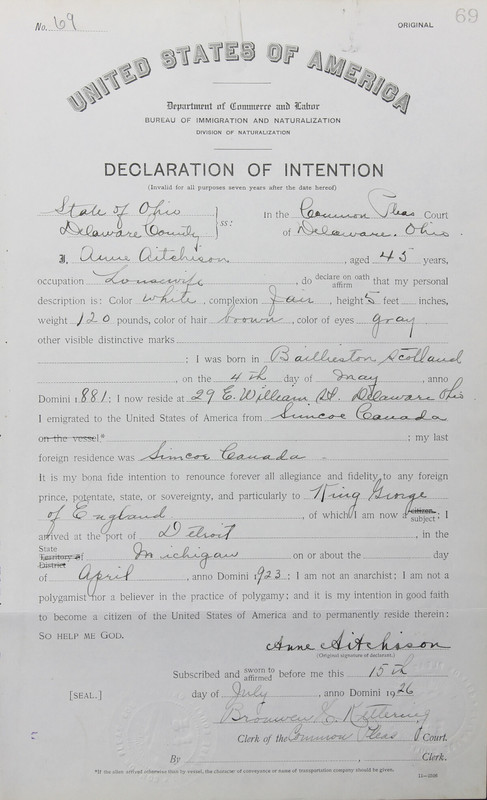 Naturalization Records Delaware County OH (p. 12)