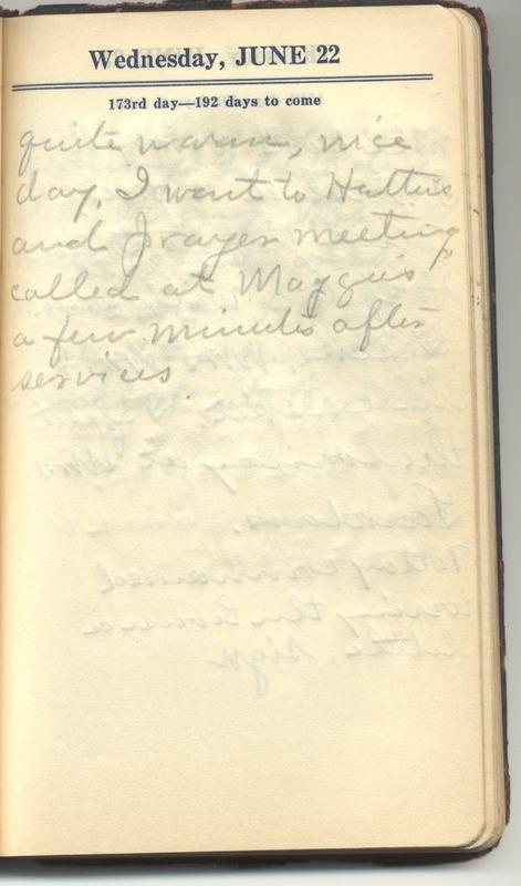 Roberta Hopkins' Diary 1927 (p. 179)