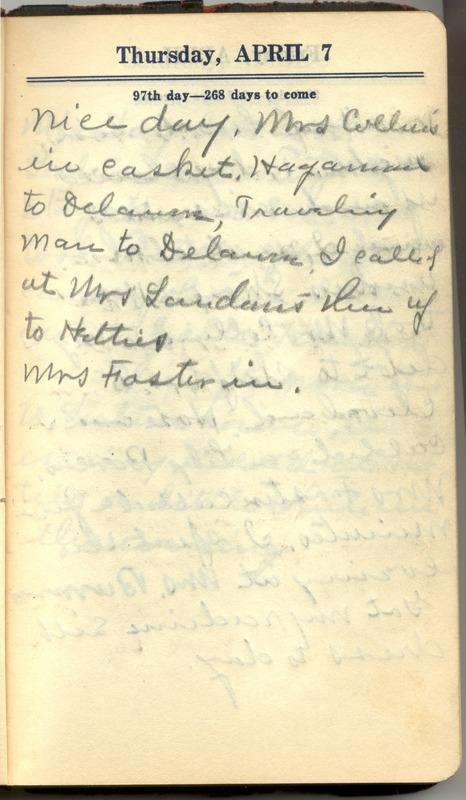 Roberta Hopkins' Diary 1927 (p. 103)