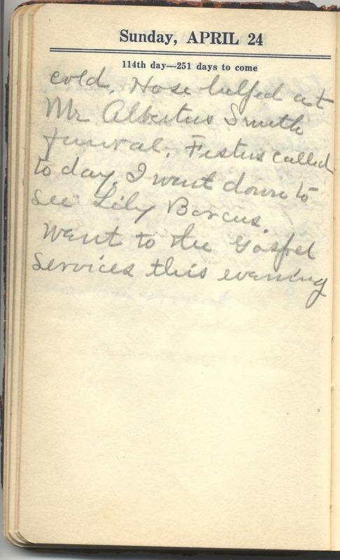 Roberta Hopkins' Diary 1927 (p. 120)
