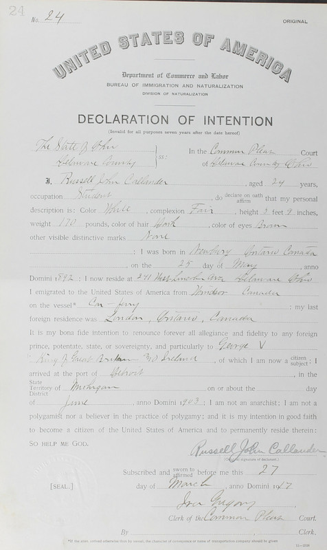 Naturalization Records Delaware County OH (p. 315)