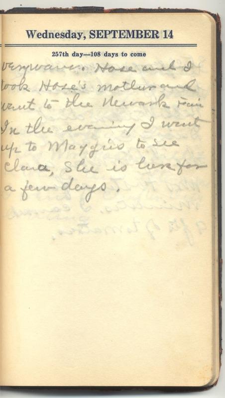 Roberta Hopkins' Diary 1927 (p. 263)