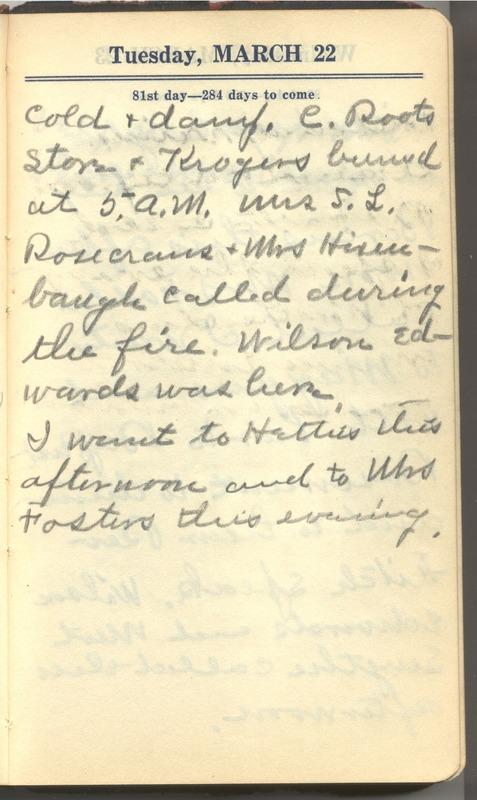 Roberta Hopkins' Diary 1927 (p. 87)